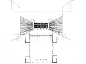 Aulario para la Universidad de Valencia (1ª propuesta)